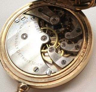Hugh Connolly c. 1900 Ladies Pocket Watch Engraved Gold Filled Hunter