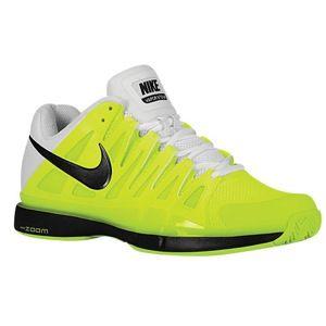 Nike Zoom Vapor 9 Tour   Mens   Tennis   Shoes   Volt/White/Black