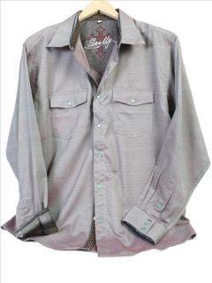 PS 082 Scully Punk Western Cowboy Shirt Steam Large Retro Rust