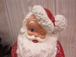 Vintage Ceramic Atlantic Mold Winking Santa Claus