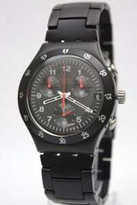 New Swatch Irony Chrono BlackNRed Men Watch YCB4008AG