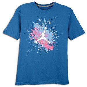 The Jordan Painted Splatter Jumpman T Shirt is made of jersey fabric