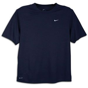 Nike Foundation S/S Running T Shirt   Mens   Blue Dark Obsidian