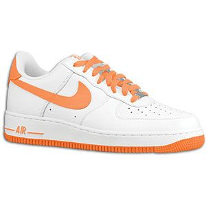 Nike Air Force 1 Low   Mens   Basketball   Shoes   White/Total Orange