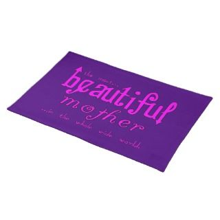 Mothers Day Moms Birthday Parties Beautiful Mother Place Mats