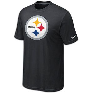 Nike NFL Oversized Logo T Shirt   Mens   Pittsburgh Steelers   Black