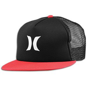 Hurley Color Block Trucker Snapback   Mens   Casual   Clothing   Lava