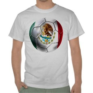 Mexico el Tri soccer ball Mexican flag gear Shirt