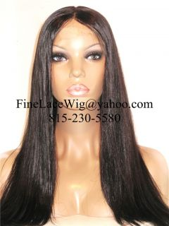 Full Lace Silky Straight Indian Remy Human Hair Wigs