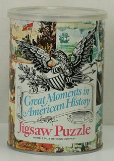 1969 Humble Oil Refining Co Grea Momens in American Hisory Jigsaw