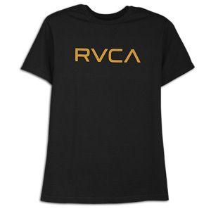 RVCA Big RVCA T Shirt   Mens   Skate   Clothing   Black