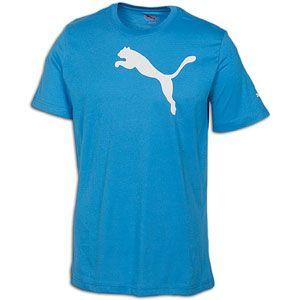 PUMA Cat S/S T Shirt   Mens   Casual   Clothing   Lt Blue