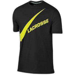 Nike Lacrosse Swoosh T Shirt   Mens   Lacrosse   Clothing   Black