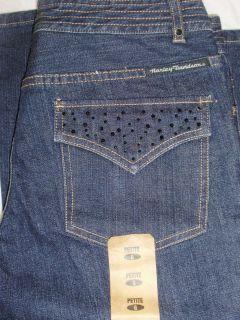Harley Davidson Ladies Embellished Jeans Size 6 Petite
