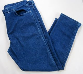 Mens Dark Blue Wrangler Jeans 42x32