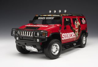 Highway 61 DCP Oklahoma Sooners Hummer H2 Diecast Car Truck SUV 1 18