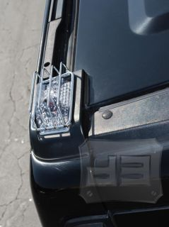 Hummer H2 Roof Light Guards Covers Chrome 03 09 SUV SUT