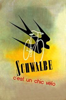 SCHWALBE BICYCLE CYCLES BIKE FRENCH BIRD FLYING VINTAGE POSTER REPRO