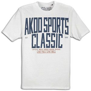 Akoo Sports S/S T Shirt   Mens   Casual   Clothing   White
