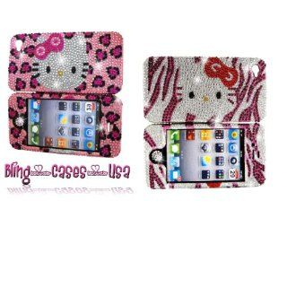 Girls Bling Cell Phone Cases and Covers Purple Zebra Kitty