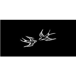 White Swallows Birds Car Decal Sticker