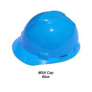 MSA V Gard Hard Hat w/ Ratchet Suspension, Blue Home