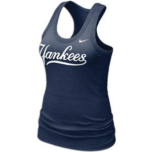 Nike MLB Dri Fit Cotton Tank   Womens   Baseball   Fan Gear   Yankees