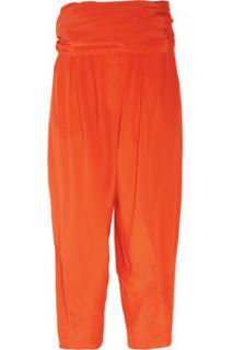 3.1 Phillip Lim Silk crepe de chine wide leg gaucho pants   70% Off