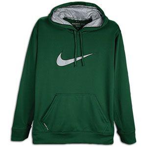 Nike KO Swoosh Logo Hoodie   Mens   Training   Clothing   Gorge Green