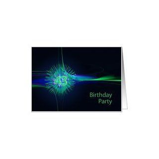 43rd Birthday party invitation Card Toys & Games