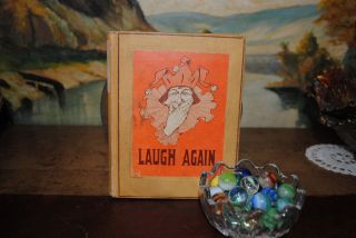 Antique 1913 Humor Book with Court Jester Cover Laugh Again Jokes