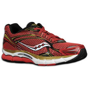 Saucony PowerGrid Triumph 9   Mens   Running   Shoes   Red/White/Gold