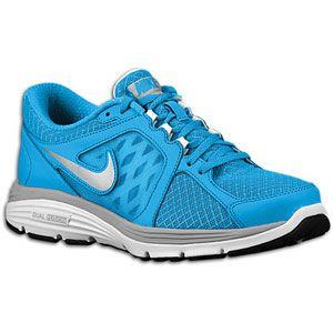 Nike Dual Fusion Run   Womens   Blue Glow/White/Matte Silver/Metallic