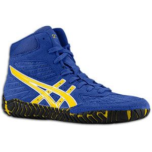 ASICS® Aggressor   Mens   Wrestling   Shoes   Royal/Gold