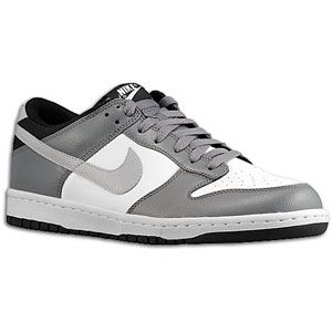 Nike Dunk Low   Mens   Basketball   Shoes   White/Wolf Grey/Cool Grey
