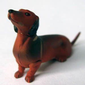 Dachshund Badger Dog ChocoQ Pet Animal Mini Art Figure Model Japan