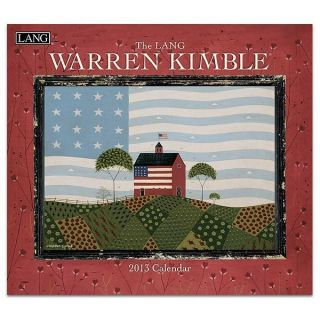 Lang 2013 Warren Kimble Folk Art Wall Calendar