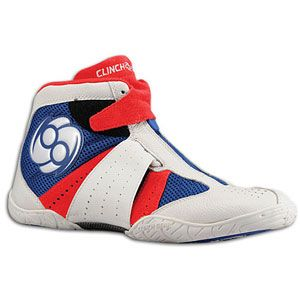 Clinch Gear Invincible   Mens   Wrestling   Shoes   Red/White/Blue