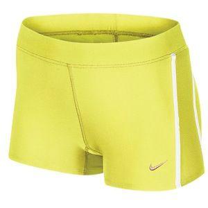 Nike Dri Fit 2 Tempo Boy Short   Womens   Electric Yellow/White