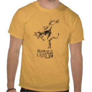 Sasquatch Riding a Great White Shark Tee Shirts