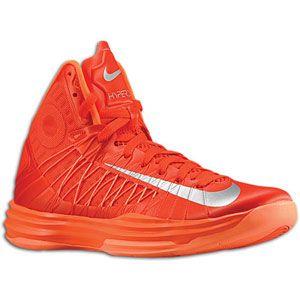 Nike Hyperdunk + Enabled   Mens   Team Orange/Metallic Silver/Wolf