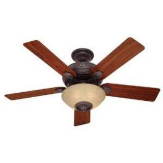 Hunter 52 Contemporary Bronze Ceiling Fan 4 Seasons Heater Remote