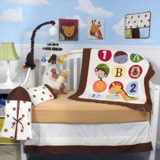 8 Piece 123 Giraffe Baby Nursery Crib Bedding Set Home