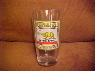Huntington Beach Beer Goldenbear Brown Ale Pint Glass as Is