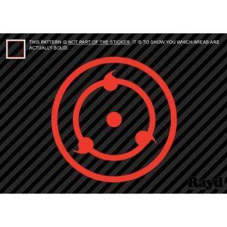 (2x) Naruto Sharingan   3rd Stage   Sticker   Decal   Die