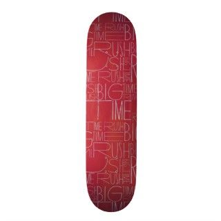 Big Time Rush Red Pattern Skate Board