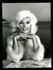 Vintage Jayne Mansfield 1960s Publicity Portrait Lovely Smile