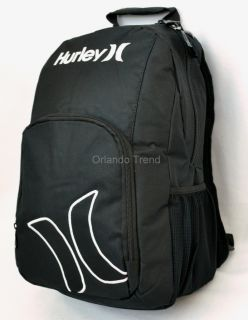 New Hurley Backpack Black Rucksack Mochila Maletin School Book Bag