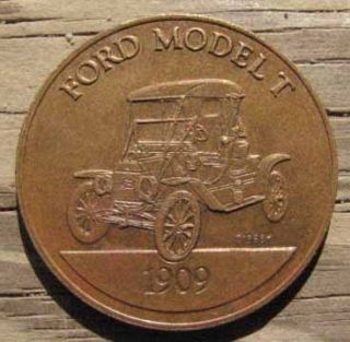 Original 1909 Model T Ford Bronze Medal or Token L K A431