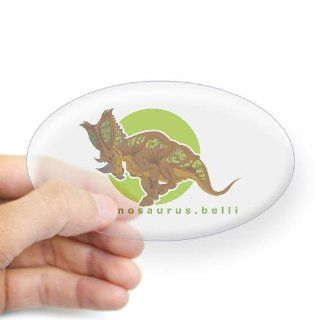 Chasmosaurus oval sticker by  Computers